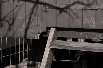 Houten trap van Agnes Meijer