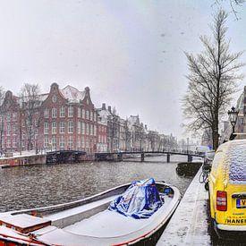 Amsterdam Winter Panorama 2019 Kloverniersburgwal van Hendrik-Jan Kornelis