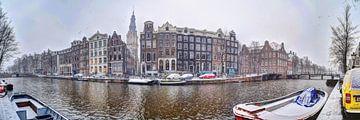 Amsterdam Winter Panorama 2019 Kloverniersburgwal Zuiderkerk van Hendrik-Jan Kornelis