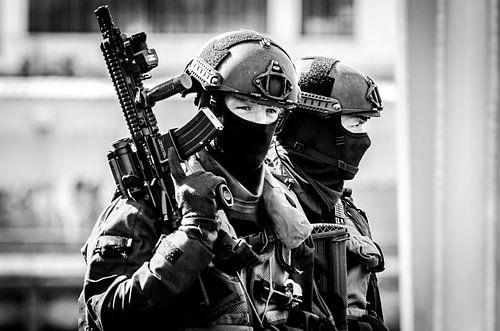 BBE Mariniers na de oefening Portdefender Rotterdam van