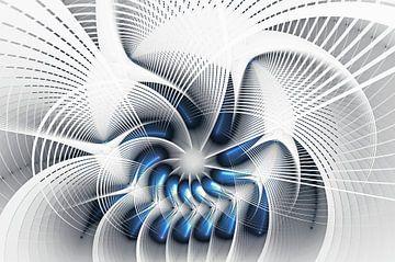 Blue Fractal 4 von Gerrit Zomerman