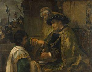 Pilatus zijn handen te wassen, de stijl van Rembrandt van Meesterlijcke Meesters
