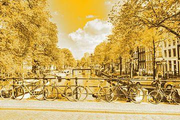 Jordaan Brouwersgracht Amsterdam Grachten Niederlande Gold von Hendrik-Jan Kornelis