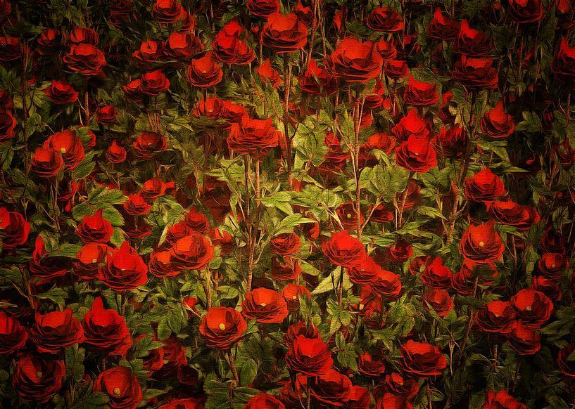 Rozen - Rode rozen van Jan Keteleer