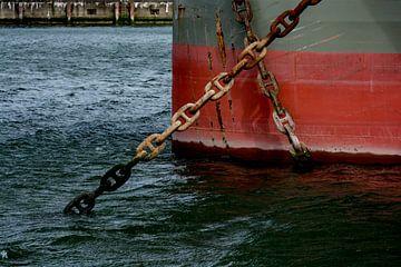 Schepen in de haven voor Anker. van Scheepskijker_Havenfotografie