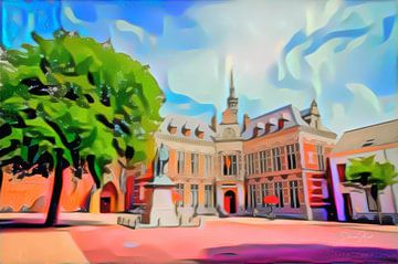 Pop Art Schilderij Utrecht Academiegebouw van Slimme Kunst.nl