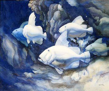 Vissen, Adriaan van 't Hoff, 1939 van Atelier Liesjes