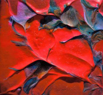 Acrylic pouring rood van Angelique van 't Riet