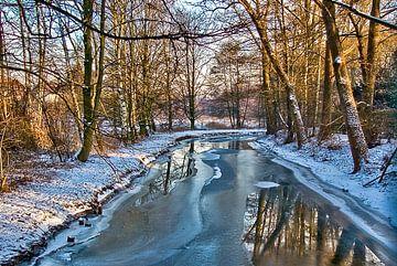 Winter aan de Hase (rivier) van Norbert Sülzner
