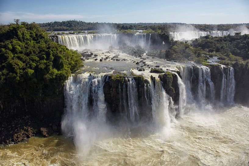 Brazilië, Argentinië, Iguazu National Park (UNESCO Werelderfgoedlijst, 1984). Iguazu-watervallen van Tjeerd Kruse