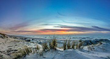 paal 21 texel zonsondergang van Texel360Fotografie Richard Heerschap