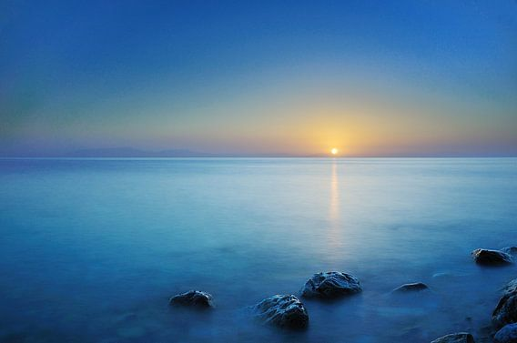 Zonsopkomst Egeische zee van John Leeninga