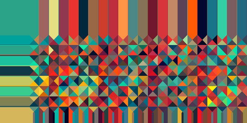 Driehoekig patroon 06 van Marion Tenbergen