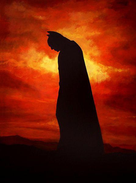 Batman schilderij van Paul Meijering