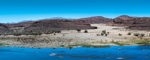 Zicht op Zuid-Afrika, panoramafoto