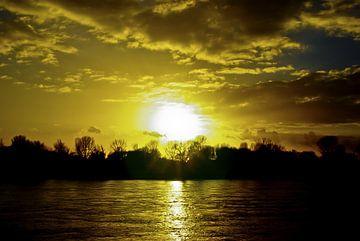 Zonsondergang op de Rijn van Norbert Sülzner
