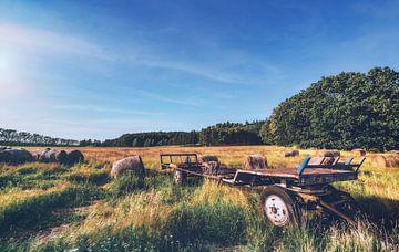 Felder und Wälder bei dramatischem Himmel - Polen im Sommer in Lubkowo von Jakob Baranowski - Off World Jack