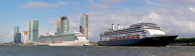 panorama 2 cruiseschepen te Rotterdam van Anton de Zeeuw