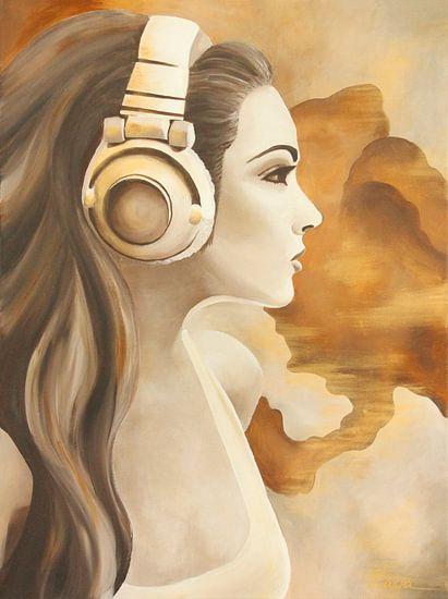 Headphone girl, portret van anja verbruggen
