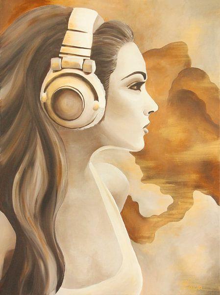 Headphone girl, portret