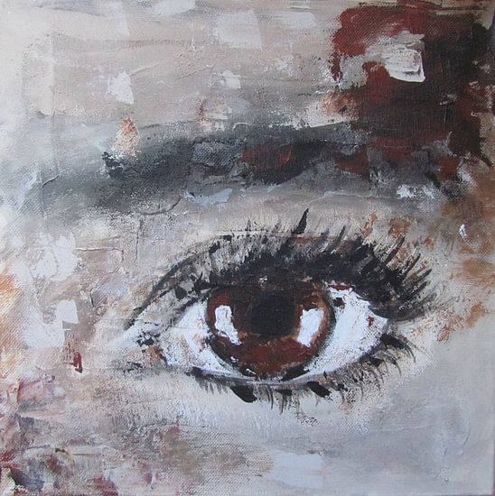 Brown eye van Linda Dammann