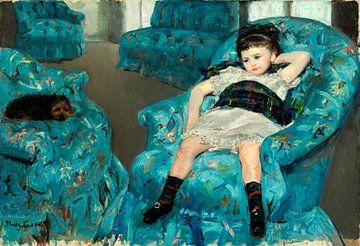 Kleines Mädchen in einem blauen Sessel, Mary Cassatt von