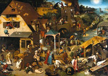 Niederländische Sprichwörter von Pieter Bruegel von