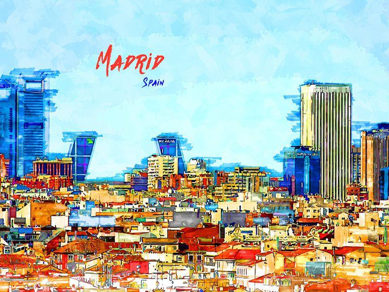 Madrid von Printed Artings