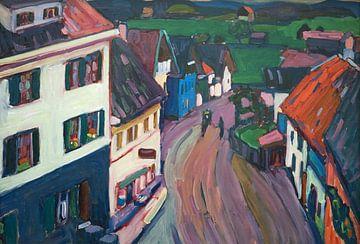 Blick aus dem Fenster des Griesbräu, Wassily Kandinsky