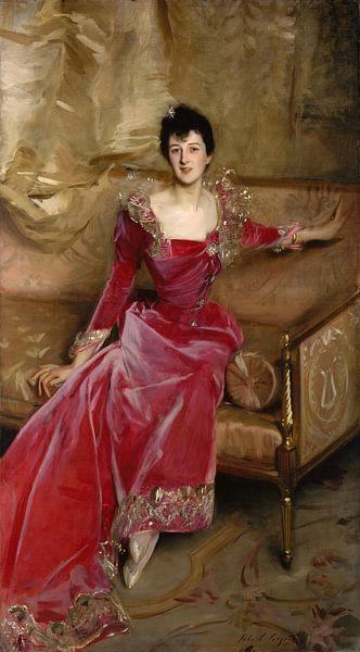 Mrs. Hugh Hammersley, John Singer Sargent - 1892 van Het Archief
