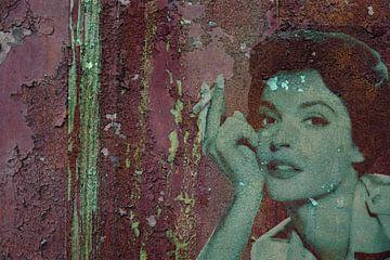 Wandmalerei - abgeblättert von Christine Nöhmeier