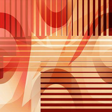 Mustermix retro orange braun von Christine Bässler
