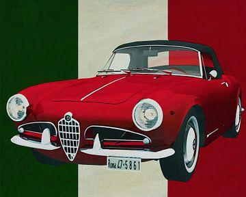 Alfa Romeo Guilietta 1300 Spyder von 1955 im rein italienischen Stil von Jan Keteleer