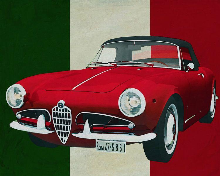 Alfa Romeo Guilietta 1300 Spyder uit 1955 puur Italiaanse stijl van Jan Keteleer