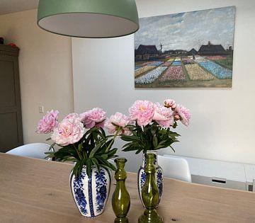 Klantfoto: Vincent van Gogh. Bloembedden in Holland