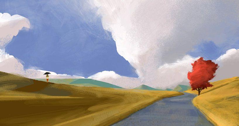 Raining sunbeams van Thomas Dijkstra