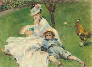 Mevrouw Monet en haar zoon, Pierre-Auguste Renoir sur