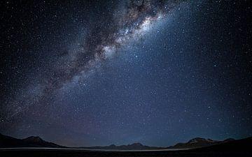 Galaxie über den Salar de Surire (1) von Lennart Verheuvel