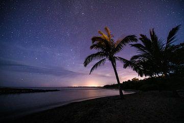 Unter den Sternen am Strand von Hawaii von Jim De Sitter