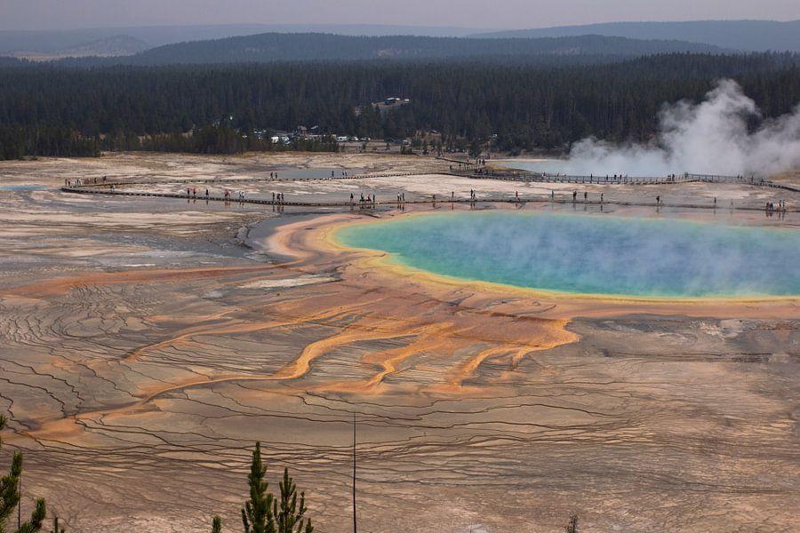 Grand Prismatic Spring, Yellowstone National Park van Jeanine Verbraak