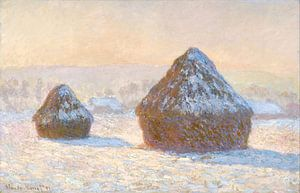 Grainstack am Morgen Schnee-Effekt, Claude Monet