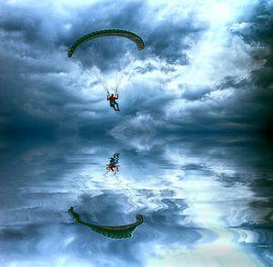 vliegen boven water