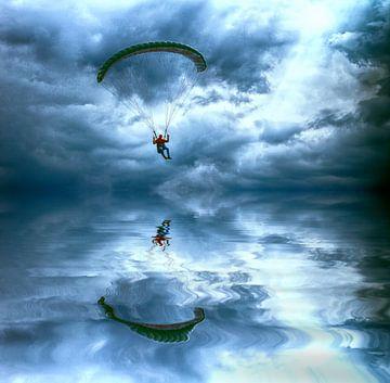 Vliegen boven water van