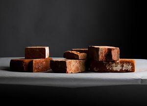 Ziegelsteine vor einem schönen Hintergrund-Gradienten. von Bram van Egmond