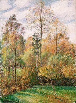 Automne, Peupliers, Eragny, Camille Pissarro sur