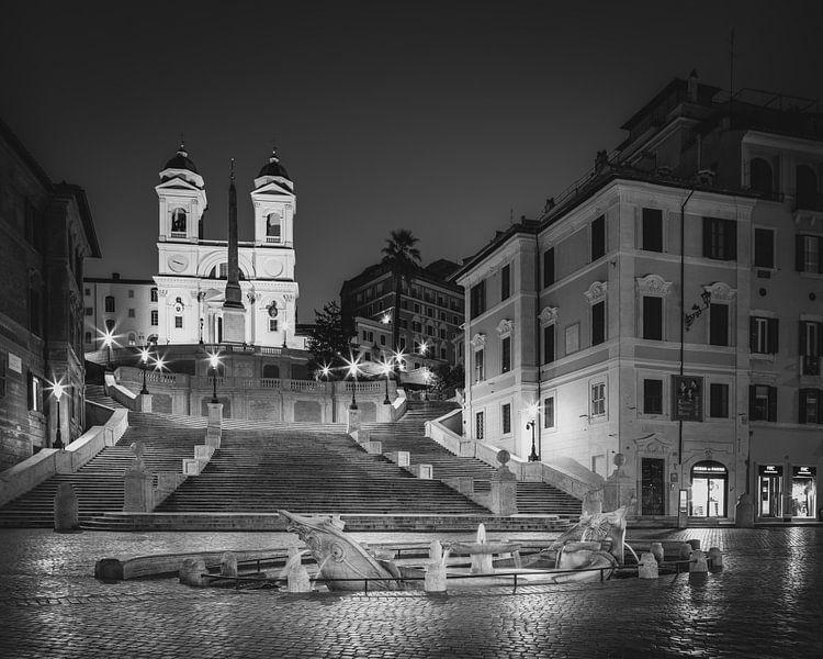 Scalinata di Trinità dei Monti - Fontana della Barcaccia van Teun Ruijters