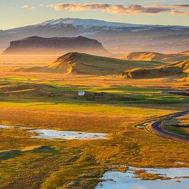 Prachtige zonsondergang panoramisch landschap van Sander Grefte