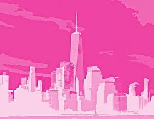 Sunlight over the city - Pink