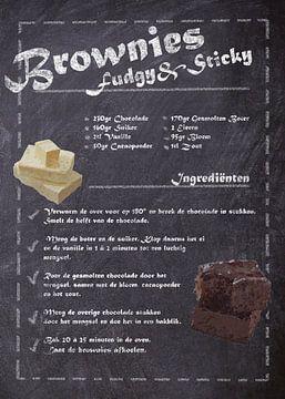 Dessert Recept - Brownies van JayJay Artworks