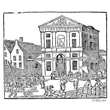 Die Waag in Leiden von Margot van Veelen